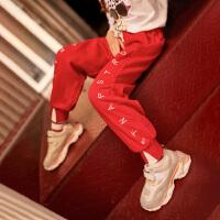 女童裤子春秋装外穿中大童儿童装运动裤宽松长裤