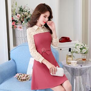 连衣裙2018新款女装春装小个子新年冬装端庄气质春款打底连衣裙裙