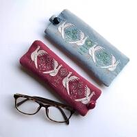 手工diy刺绣布艺制作手机袋材料包自制创意生日礼物包