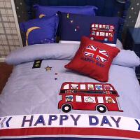儿童棉床上用品三件套床单被套四件套棉可爱女孩卡通男孩床品