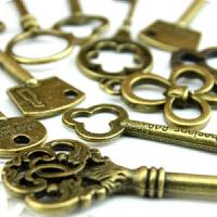 韩国文具批发 复古铜钥匙挂件(小号)2036028