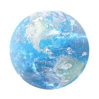 七夕礼物 个性星球鼠标垫 柔软橡胶垫子小清新圆形笔记本电脑垫 虹色地球