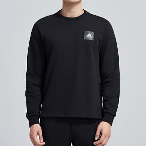 adidas阿迪达斯男服卫衣2019新款圆领套头休闲运动服DU1129