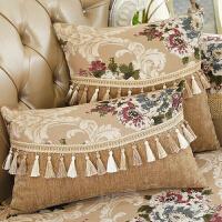 欧式宫廷沙发抱枕靠垫套办公靠垫汽车抱枕靠垫含蕊腰枕靠背垫 【含枕蕊】