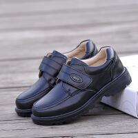 真皮男童黑色皮鞋演出鞋学生鞋儿童单鞋白色花童舞蹈鞋礼仪鞋