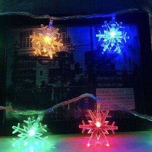 【每满200减100】御目  串串灯 led彩灯串插花雪花灯串酒吧生日舞台满天星装饰满额减限时抢圣诞用品
