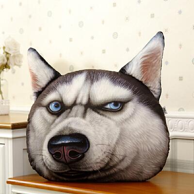 3D神烦狗狗逼真卡通午睡枕头汽车抱枕靠垫被大号办公室靠枕