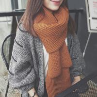 韩版情侣围巾冬季加长粗毛线围巾女针织加厚秋冬季韩版围脖男学生