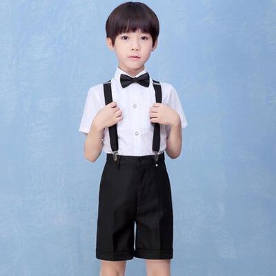 男童朗诵表演服中小学生六一大合唱儿童背带裤演出服校服礼服套装