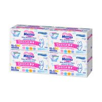 【网易考拉】Merries 花王婴儿乳液湿巾 粉色加厚装 54张/包 2小包装 4件装