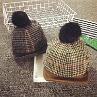 儿童帽子秋冬天男女宝宝帽子1-2岁鸭舌帽加厚棒球帽韩版婴儿帽潮
