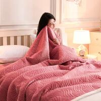 家纺2017秋冬款毯子毛毯冬季空调毯双层毯加厚珊瑚绒毯子盖毯法兰绒午睡毯暖床单
