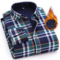 保暖衬衫男加绒加厚冬季长袖修身寸衫冬季格子衬衣男装2017新款潮