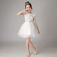 儿童礼服公主裙女孩婚纱蓬蓬纱花童钢琴演出服主持人晚礼服春夏
