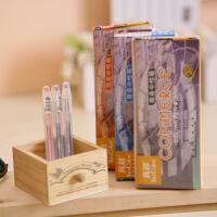 真彩0221B办公商务中性笔 学生透明杆水笔 0.5mm签字笔 12支装