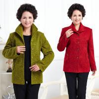 秋冬季新款中老年女装上衣开衫大码款色纯色毛呢外套女妈妈装外衣