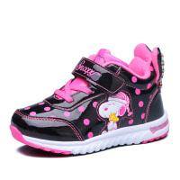 【618大促-每满100减50】史努比童鞋女童鞋加绒女童棉鞋波点儿童运动鞋保暖休闲鞋