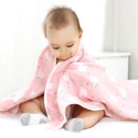 【3件3折后60.84】婴儿浴巾纯棉新生儿宝宝纱布吸水洗澡巾卡通6层毛巾被儿童盖毯