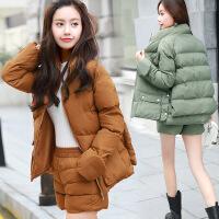 女棉衣短裙套装裙两件套秋冬时尚气质2017新款韩版小香风