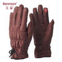 卡蒙摩托车毛毛手套女冬加厚骑车加绒手套户外出行保暖蝴蝶结手套2832