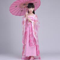 儿童汉服演出服仙女古装唐风拖尾 古装服装女仙女装演出服春季