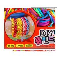 韩国彩虹编织工艺皮筋儿童DIY手工制作玩具女孩织造手镯手链手绳,好玩有趣,价格便宜,两用哦~可以编制成手链当做装饰,也可以当做头发皮筋哦~