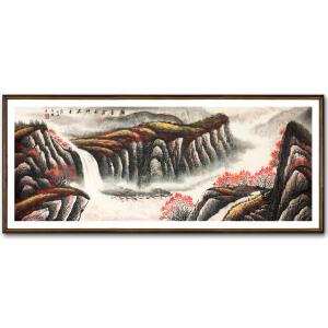 公启明《金秋》著名山水画家