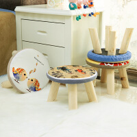 小板凳 家用小凳子换鞋凳儿童矮凳蘑菇凳沙发凳可拆洗小凳子