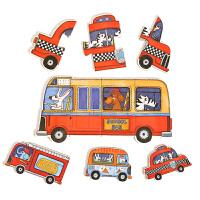 交通动物农场拼图儿童大块拼图玩具宝宝幼儿