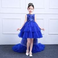 儿童礼服公主裙花童钢琴演出生日晚礼服女孩蓬蓬裙拖尾春夏