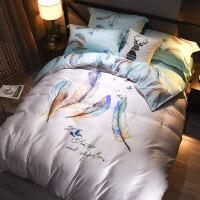 天丝四件套冰丝床单丝绸床上用品1.8m2.0米床双人夏季丝滑裸睡
