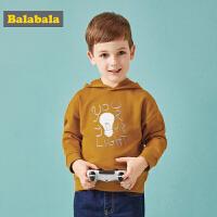 巴拉巴拉儿童卫衣男童装宝宝男秋装新款运动小童休闲连帽衫潮
