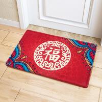 喜庆地垫门口垫 厨房防滑脚垫卫生间吸水垫大红地毯进门脚垫福字临门地垫