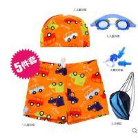 儿童泳衣男童泳裤时尚卡通平角婴儿泳裤宝宝泳衣男童分体泳裤