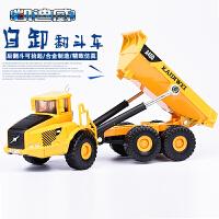 合金工程车模型翻斗车自卸运输装卸卡车货运汽车玩具模型
