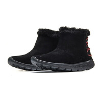Skechers斯凯奇女鞋2017新款轻质反毛皮短靴一脚套雪地靴14404