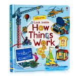 Usborne 看里面系列 英文原版 Look Inside How things Work 事物运转的秘密 立体书早