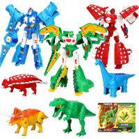 心奇新奇爆暴龙战车2男孩金刚烈焰霸王龙机甲变形恐龙玩具3机器人