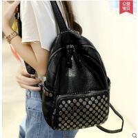 新款潮双肩包简约背包书包女韩版女士包包时尚学院风可礼品卡支付