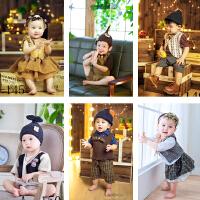 新款韩版写真百天宝宝男女儿童摄影服装影楼服装照相拍照服饰