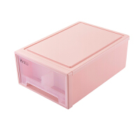 塑料收纳盒透明抽屉式文胸内裤袜子整理盒 家用衣柜内衣物收纳箱