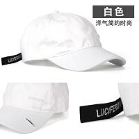 夏季帽子男潮青年韩版男士嘻哈帽百搭情侣棒球帽女式鸭舌帽时尚 可调节