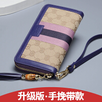 女士钱包长款帆布配拉链多功能大容量手拿包女式钱夹