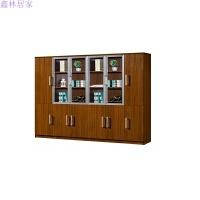 文件柜木质资料柜档案柜员工储物柜子带锁办公书柜组合办公家具 25mm