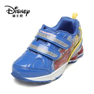 鞋柜/迪士尼秋冬款镜面儿童魔术贴男童运动休闲鞋1