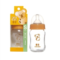Hito喜多 母婴用品宽口径葫芦型耐高温婴儿奶瓶无铅玻璃奶瓶120ml