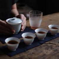 盖碗套装快客杯一壶二杯一杯陶瓷旅行茶具套装便携包户外旅游功夫