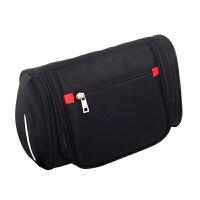 旅行男士洗漱包 商务出差便携式多功能化妆包小号防水手提包浴袋SN1605 黑色 23.5*15.5*8.5cm