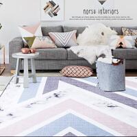 北欧简约几何客厅地毯 门厅沙发茶几垫卧室床边无毛毯子