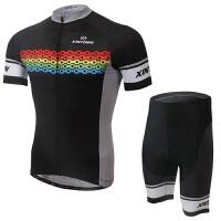 新款意大利骑行服短袖套装 自行车服 夏季吸湿排汗衣裤